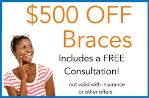 $500 off braces
